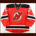2008-09 Brian Rolston New Jersey Devils Game Worn Jersey – Brodeur's 553rd Win Game - Photo Match
