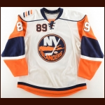 2008-09 Mike Comrie New York Islanders Game Worn Jersey – Photo Match – Team Letter