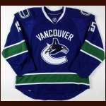 2009-10 Tanner Glass Vancouver Canucks Game Worn Jersey - Team Letter