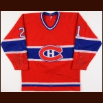 1983-84 Guy Carbonneau Montreal Canadiens Game Worn Jersey – The Guy Carbonneau Collection - 2nd NHL Season - Guy Carbonneau Letter