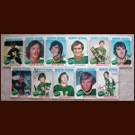 1975-76 Autographed Minnesota North Stars Card Group of 11