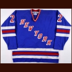 1984-85 Nick Fotiu New York Rangers Game Worn Jersey