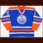 1985-86 Randy Gregg Edmonton Oilers Game Worn Jersey – Team Letter