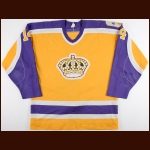 "1986-87 Bob Bourne Los Angeles Kings Game Worn Jersey – ""20-year Anniversary"""