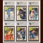 Lot of (6) 1978-79 OPC Vancouver Canucks Autographed Cards – GAI Certified