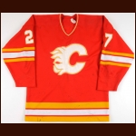 1985-86 John Tonelli & Ed Beers Calgary Flames Game Worn Jersey - Photo Match