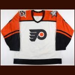 "1991-92 Mark Recchi Philadelphia Flyers Game Worn Jersey – ""25-year Anniversary - 2nd Team NHL All Star - 1st Flyers Jersey - Photo Match"