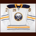 2015-16 Zemgus Girgensons Buffalo Sabres Game Worn Jersey - Photo Match – Team Letter