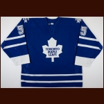 2000-01 Danny Markov Toronto Maple Leafs Game Worn Jersey – Team Letter