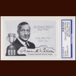 Frank Calder Autographed Card - The Broderick Collection - Deceased