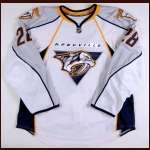 2008-09 Ryan Jones Nashville Predators Game Worn Jersey - Rookie - Photo Match - Team Letter