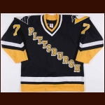 1992-93 Joe Mullen Pittsburgh Penguins Game Worn Jersey