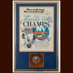 1979-80 New York Islanders Stanley Cup Champions Presentation Display – Autographed