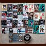 Certified Autograph Group - Includes (30) Certified Cards Including Gump Worsley (Deceased), (1) Certified Puck and Legends Of The Hall Card