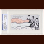 The Kraut Line Autographed Card - Milt Schmidt, Woody Dumart, Bobby Bauer - The Broderick Collection - Deceased