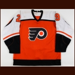 1987-88 Nick Fotiu Philadelphia Flyers Game Worn Jersey - Photo Match