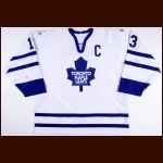 2001-02 Mats Sundin Toronto Maple Leafs Game Worn Jersey - Photo Match – Team Letter