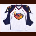 2009-10 Slava Kozlov Atlanta Thrashers Game Worn Jersey - Photo Match