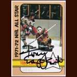 1972-73 Topps #121 Tony Esposito Black Hawks AS - Autographed