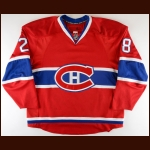 2007-08 Kyle Chipchura Montreal Canadiens Game Worn Jersey – Rookie – Team Letter