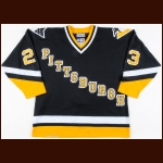 1996-97 Fredrik Olausson Pittsburgh Penguins Game Worn Jersey
