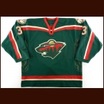 2000-01 Ladislav Benysek Minnesota Wild Game Worn Jersey - Inaugural Season – Team Letter