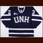 1990-91 Jeff St. Laurent University of New Hampshire Game Worn Jersey