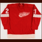 1970 Billy Dea Detroit Red Wings Game Worn Jersey