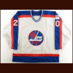 1989-90 Dave McLlwain Winnipeg Jets Game Worn Jersey – Photo Match – The Terrence Murphy Collection – Joe Murphy Letter