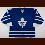1997-98 Mike Johnson Toronto Maple Leafs Game Worn Jersey – Rookie - Photo Match – Team Letter