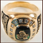 1995 Norman Rochefort Denver Grizzlies 10k Gold & Diamond Turner Cup Championship Ring