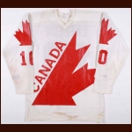 1976 Guy Lafleur Team Canada Canada Cup Pre-Tournament Game Worn Jersey