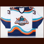 1995-96 Ken Belanger New York Islanders Game Worn Jersey – Alternate Fisherman Crest - Photo Match