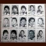 Early 1980's  Washington Capitals Autographed 5x7 B&W Photo Group of 15 - Including Bobby Carpenter
