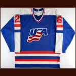 1984 Team USA Canada Cup Game Issued Jersey – Player #26