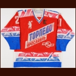 Early 1990's Igor Martynov Torpedo Yaroslavl Game Worn Jersey