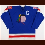 Early 1980's Jeff Carlson Muskegon Mohawks Game Worn Jersey - Slap Shot - Hanson Brothers
