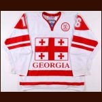 2014 Davit Oganeziani Georgia National Team World Championships Game Worn Jersey
