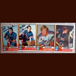 1974-75 OPC Autographed Rangers group of 4
