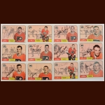 Lot of (12) 1968-69 OPC Philadelphia Flyers Autographed Cards – Includes Deceased
