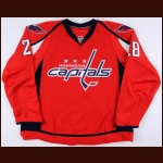 2007-08 Alexander Semin Washington Capitals Game Worn Jersey - Photo Match – Team Letter
