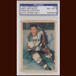Andy Bathgate 1953 Parkhurst - New York Rangers - Autographed - Deceased - PSA/DNA