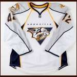2008-09 Antti Pihlstrom Nashville Predators Game Worn Jersey - Rookie - 1st NHL Goal - Photo Match - Team Letter