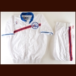 1994-95 Clarence Weatherspoon Philadelphia 76ers Full Warm-Up Suit