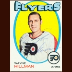 1971-72 Topps Wayne Hillman Philadelphia Flyers Autographed Card – Deceased