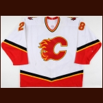2002-03 Robyn Regehr Calgary Flames Game Worn Jersey – Photo Match – Team Letter