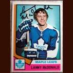 1974-75 OPC Lanny McDonald  - Autographed