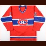 1983-84 Mats Naslund Montreal Canadiens Game Worn Jersey - All Star Season - Photo Match