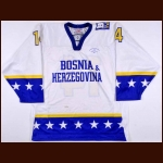 2008 Muamar Dzamalija Team Bosnia & Herzegovina World Championships Game Worn Jersey
