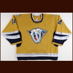 2006-07 Ramzi Abid Nashville Predators Game Worn Jersey – Alternate – Team Letter